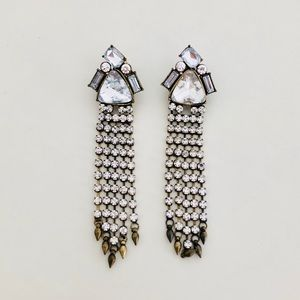 Jewelry - Vintage Inspired Crystal Dangle Earrings